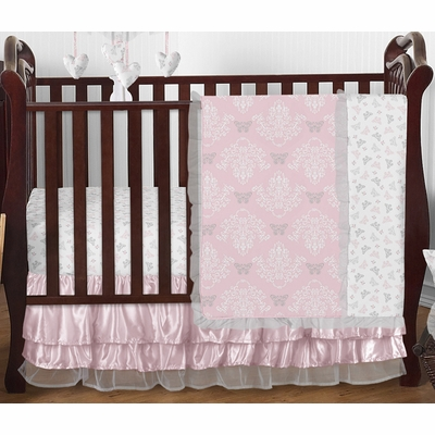 Alexa 4 Piece Bumperless Crib Bedding Collection