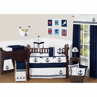 Anchors Away Crib Bedding Collection
