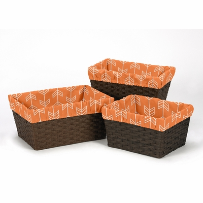 Arrow Orange and Navy Collection Basket Liner
