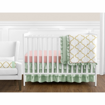 Ava 11 Piece Bumperless Crib Bedding Collection