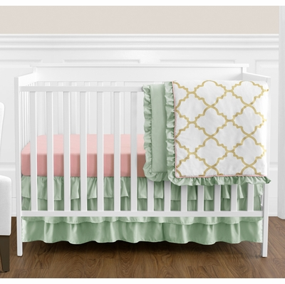 Ava 4 Piece Bumperless Crib Bedding Collection