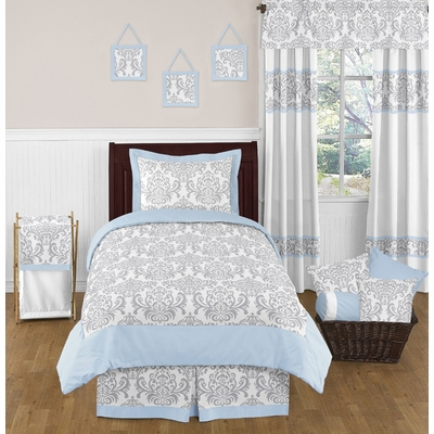 Avery Blue and Gray Twin Bedding Collection