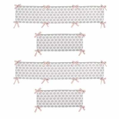 Aztec Pink and Grey Collection Crib Bumper Pad