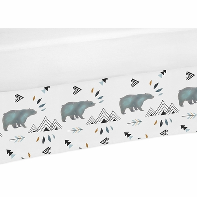 Bear Mountain Collection Crib Bed Skirt