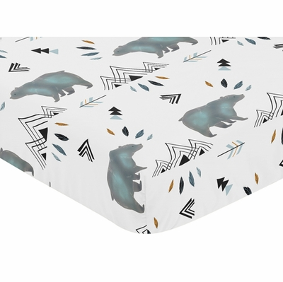 Bear Mountain Collection Crib Sheet - Bear Mountain Print
