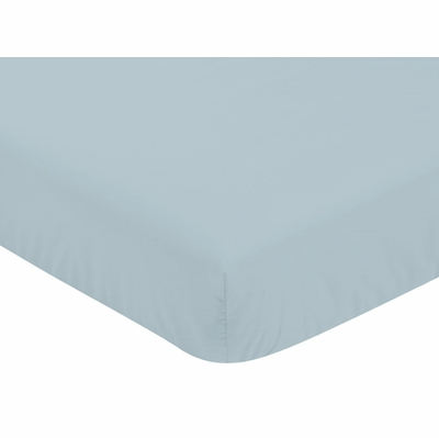 Bear Mountain Collection Crib Sheet - Slate Blue