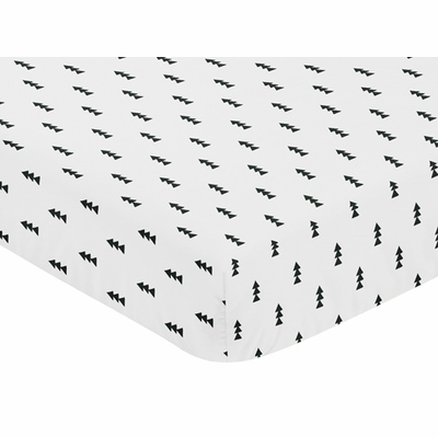Bear Mountain Collection Crib Sheet - Triangle Tree Print