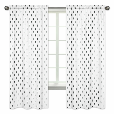 Bear Mountain Collection Triangle Tree Print Window Panels - Set of 2