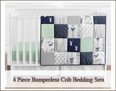 Bumperless 4 Piece Crib Bedding Sets