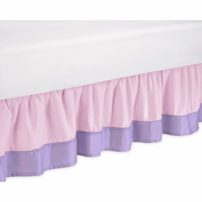 Butterfly Pink and Purple Toddler Bed Skirt
