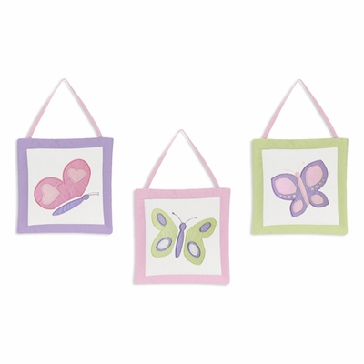 Butterfly Pink and Purple Wall Hangings