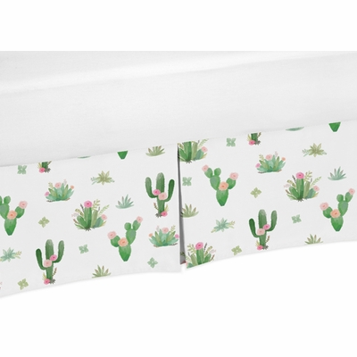 Cactus Floral Collection Crib Bed Skirt