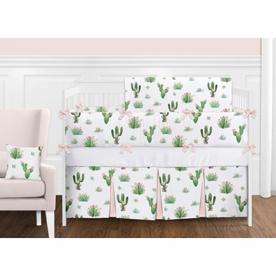 Cactus Floral Collection Crib Bedding