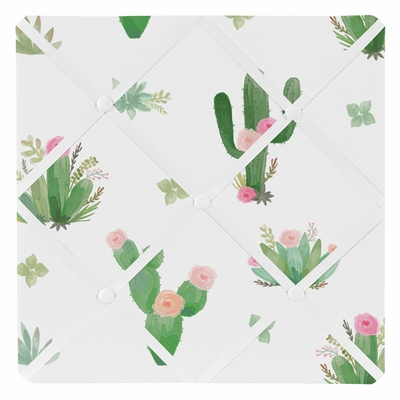 Cactus Floral Collection Fabric Memo Board