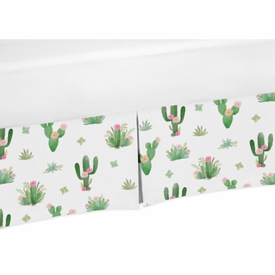 Cactus Floral Collection Queen Bed Skirt