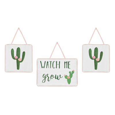 Cactus Floral Collection Wall Hangings