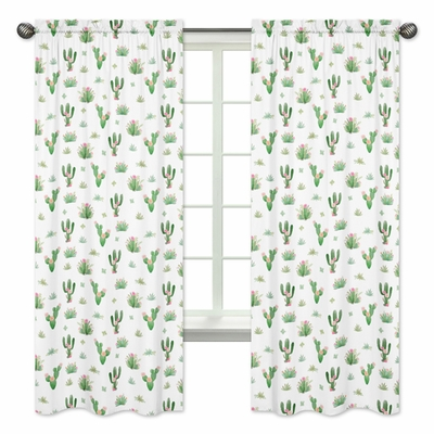 Cactus Floral Collection Window Panels - Set of 2