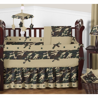 Camo Green Crib Bedding Collection
