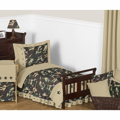Camo Green Toddler Bedding Collection