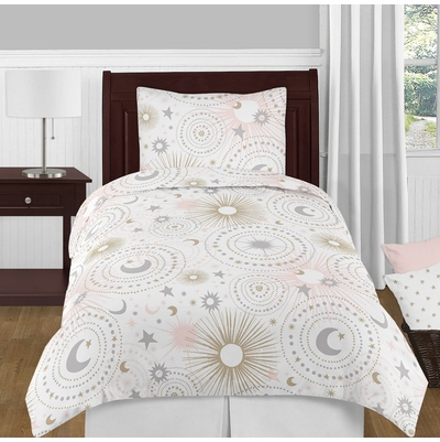 Celestial Pink and Gold Twin Bedding Collection