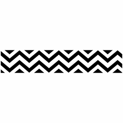Chevron Black And White Wallpaper Border