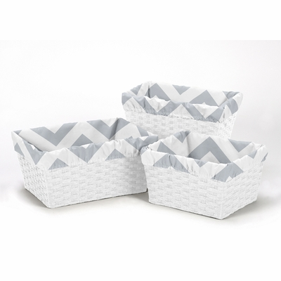 Chevron Gray and White Collection Basket Liner