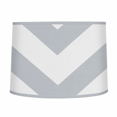 Chevron Gray and White Collection Lamp Shade