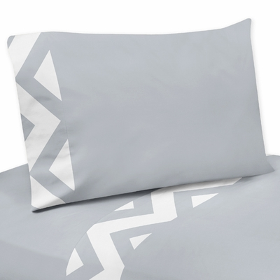 Chevron Gray and White Collection Twin Sheet Set