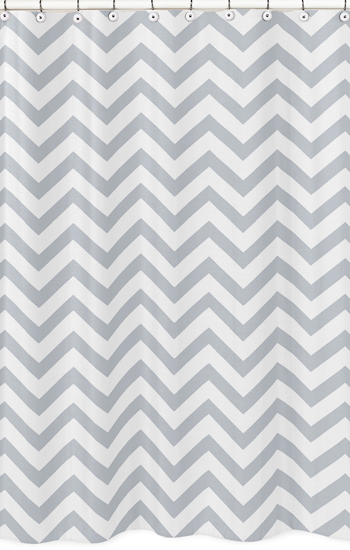 Exceptionnel Chevron Gray And White Shower Curtain. Enlarge