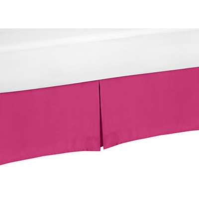 Chevron Pink and White Toddler Bed Skirt - Pink