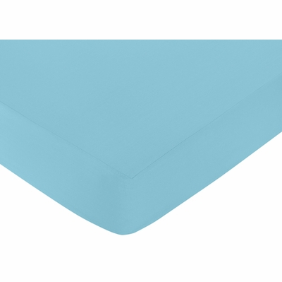 Chevron Turquoise and White Collection Crib Sheet - Turquoise