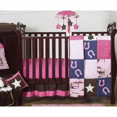 Cowgirl 11 Piece Bumperless Crib Bedding Collection