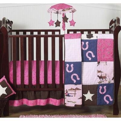 Cowgirl 4 Piece Bumperless Crib Bedding Collection