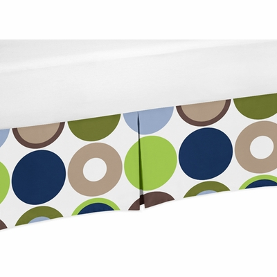 Designer Dot Collection Multicolored Large Dot Print Crib Bed Skirt
