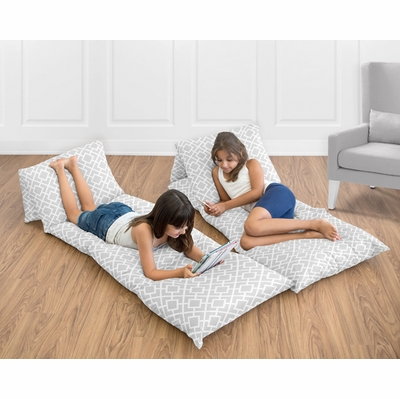 Diamond Gray and White Collection Pillow Case Lounger