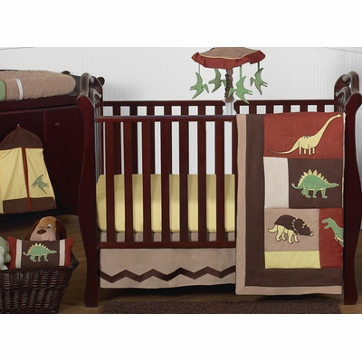 Dinosaur Land 11 Piece Bumperless Crib Bedding Collection