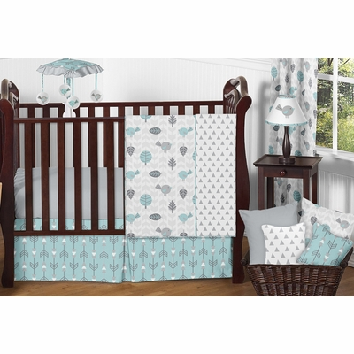 Earth and Sky 11 Piece Bumperless Crib Bedding Collection