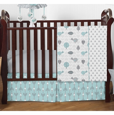 Earth and Sky 4 Piece Bumperless Crib Bedding Collection