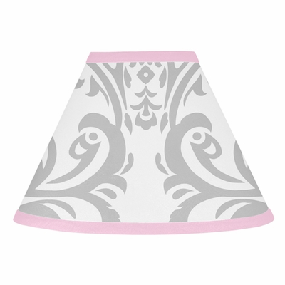 Elizabeth Pink and Gray Lamp Shade