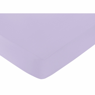 Elizabeth Lavender and Gray Collection Crib Sheet - Lavender