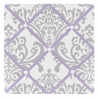Elizabeth Lavender and Gray Collection Fabric Memo Board