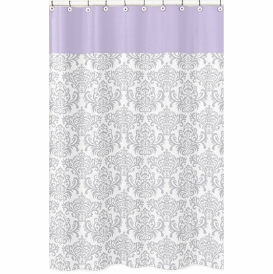Elizabeth Lavender and Gray Collection Shower Curtain