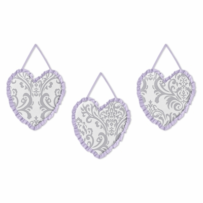 Elizabeth Lavender and Gray Collection Wall Hangings