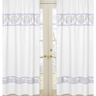 Elizabeth Lavender and Gray Collection Window Panels - Set of 2