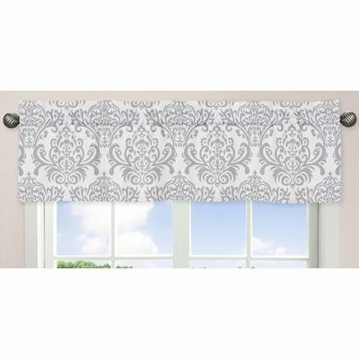 Elizabeth Lavender and Gray Collection Window Valance