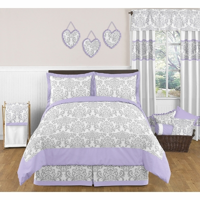 Elizabeth Lavender and Gray Full/Queen Bedding Collection