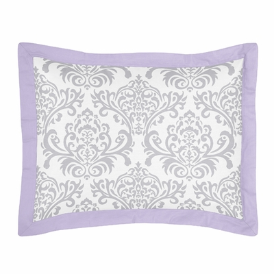Elizabeth Lavender and Gray Collection Pillow Sham