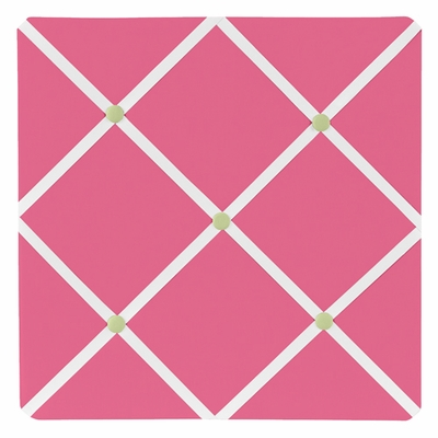 Flower Pink and Green  Fabric Memo Board