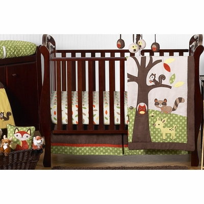 Forest Friends 11 Piece Bumperless Crib Bedding Collection