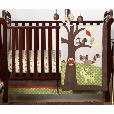 Forest Friends 4 Piece Bumperless Crib Bedding Collection